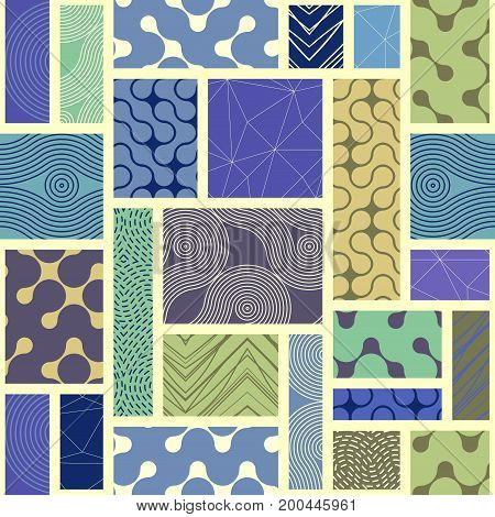 Seamless background. Geometric abstract pattern of rectangles