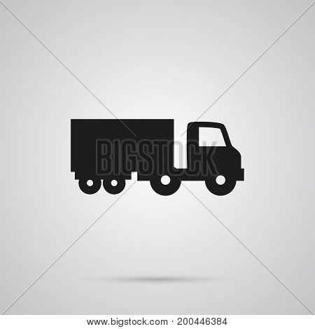 Vector Truck Element In Trendy Style.  Isolated Lorry Icon Symbol On Clean Background.