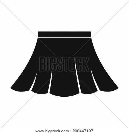 Skirt in black simple silhouette style icons vector illustration for design and web isolated on white background. Skirt vector object for labels and logo