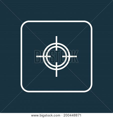 Premium Quality Isolated Target  Element In Trendy Style.  Sniper Outline Symbol.