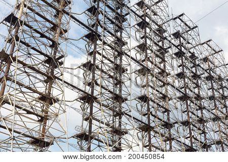 Large Antenna Field. Soviet Radar System