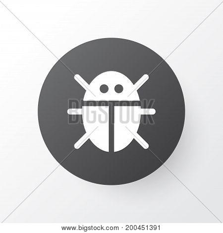 Premium Quality Isolated Beetle Element In Trendy Style.  Bug Icon Symbol.