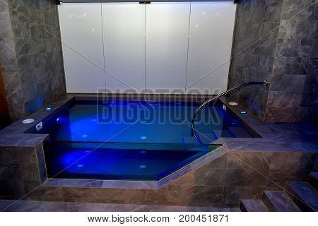 Closeup image of empty sensory deprivation tank