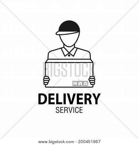 Delivery Icon Concept. Delivery Man Service, Order, Worldwide Shipping.