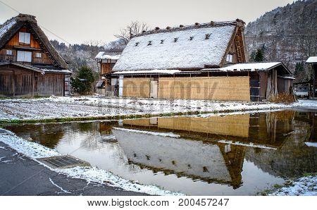 Historic Village Of Shirakawago At Winter