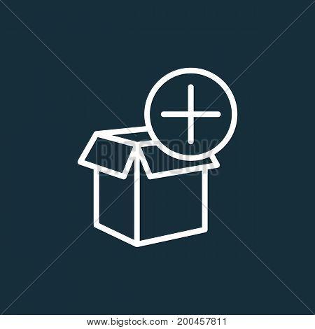 Shipping Box Add Icon On Dark Background