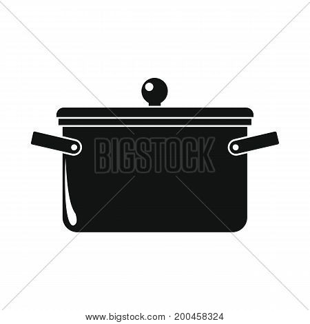 Pan in black simple silhouette style icons vector illustration for design and web isolated on white background. Pan vector object for labels and logo