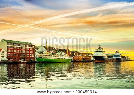A view of the city centre of Stavanger in Norway.