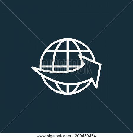 Worldwide Shipping On Dark Background
