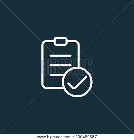 Checklist Icon On Dark Background