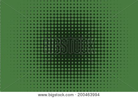 Comic dotted pattern. Green color. Halftone background.Pop art retro style. Backdrop with circles, rounds, dots, design element for web banners, posters, cards, wallpapers.  Vector illustration
