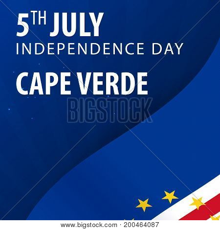 Independence Day Of Cape Verde. Flag And Patriotic Banner. Vector Illustration.