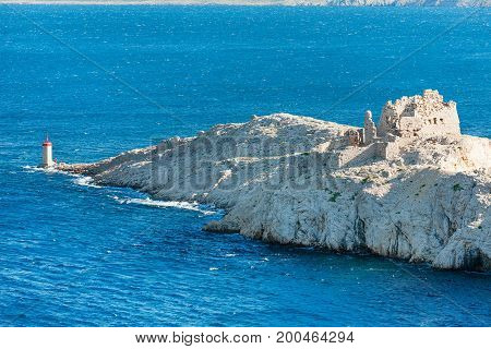 Ruins of old fortress on Pag island, Croatia