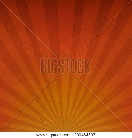 Orange Vintage Sunburst Cardboard Paper