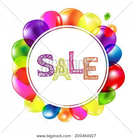 Sale Banner With Balloons