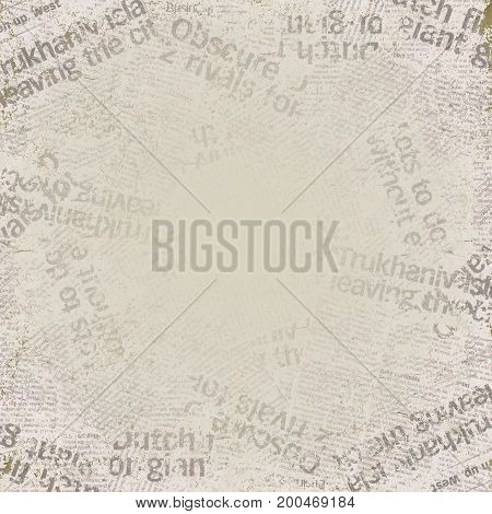 Grunge old newspaper background with space for text