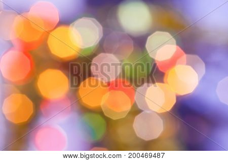 Christmas bokeh light abstract holiday background or defocused new year lights background