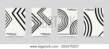 Brochure cover template set. Geometric background design covers for magazine printing products flyer presentation brochures or booklet. Vector illustration.