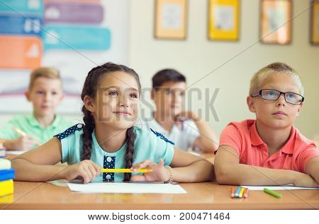 Portrait Of Children In Shool