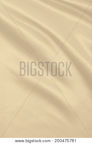Smooth Elegant Golden Silk Or Satin Luxury Cloth Texture As Wedding Background. Luxurious Background