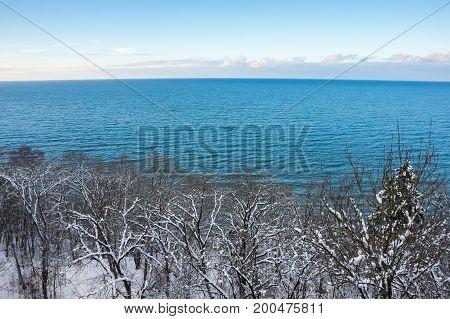 The coast of Finnish Gulf in the winter Estonia