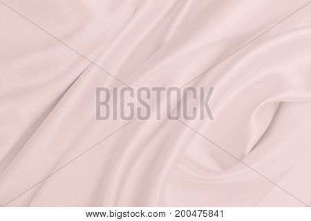Smooth Elegant Pink Silk Or Satin Texture As Wedding Background. Luxurious Background Design