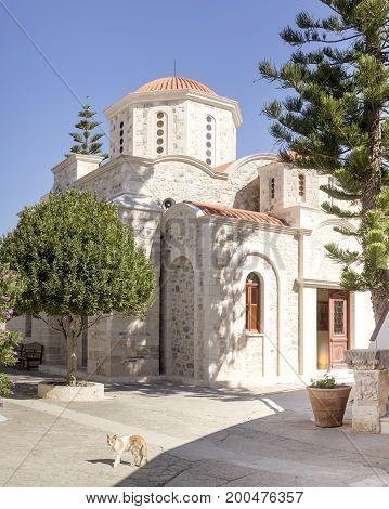 The christian temple closeup (Greece, Crete Island)