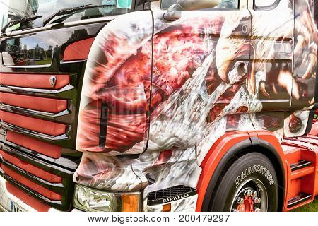 Detailed Artwork Of Eagle On Truck