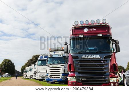 Row Of Show Condition Scania Trucks