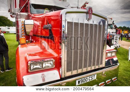 Kenworth Red Truck Front Close Up