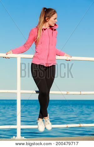 Portrait Of Beauty Woman Outside