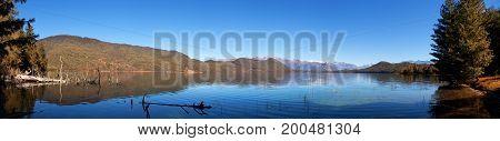 View of Rara Daha or Mahendra Tal Lake - Rara trek - Mugu District Karnali Zone West Nepal