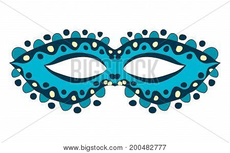 Carnival mask. vector illustration. Drawing by hand