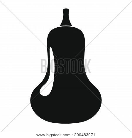 Squash black simple silhouette icon vector illustration for design and web isolated on white background. Squash vector object for labels  and advertising