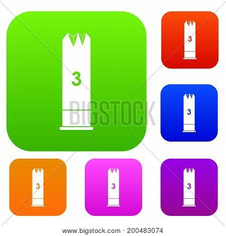 Expanding bullets set icon in different colors isolated vector illustration. Premium collection