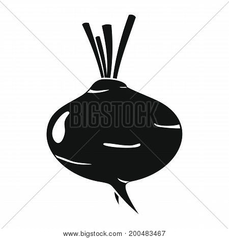 Turnip black simple silhouette icon vector illustration for design and web isolated on white background. Turnip vector object for labels  and advertising
