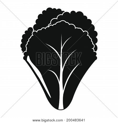 Salad black simple silhouette icon vector illustration for design and web isolated on white background. Salad vector object for labels  and advertising