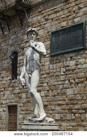 Statue of David by Michelangelo in Florence