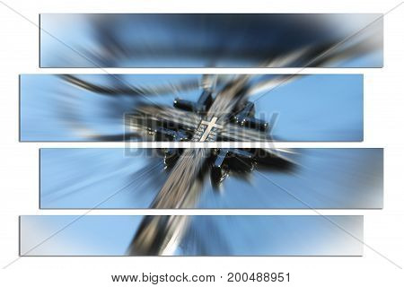 Christianity Cross Art Zoom Burst High Quality