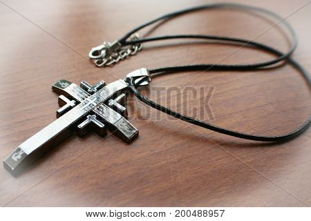 Religious Cross With White Frame High Quality