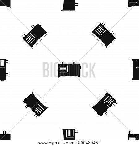 Wall router pattern repeat seamless in black color for any design. Vector geometric illustration
