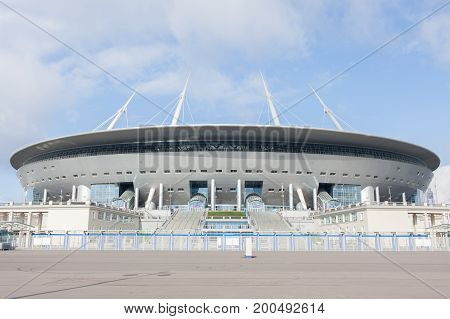 stadium Zenit arena most expensively in the world the FIFA World Cup in 2018. Saint-Petersburg Russia.