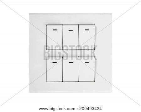 light switch isolated on a white background