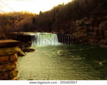 Cumberland Falls Waterfall March 2017 The drop