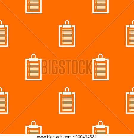 Document plan pattern repeat seamless in orange color for any design. Vector geometric illustration