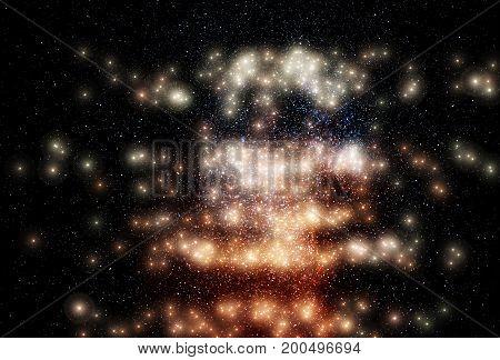 Glowing stars on night sky background hd