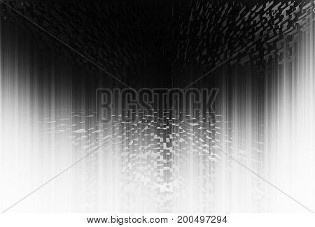 Vertical black and white skyscrapers abstraction hd