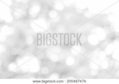 white blurred backdrop of nature, circle white wallpaper, gray bokeh background