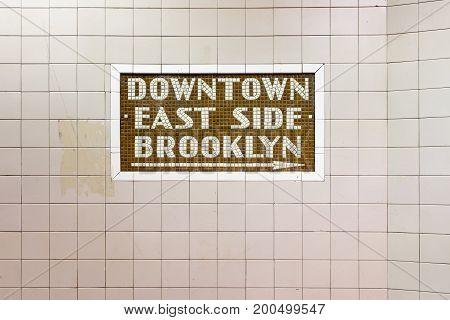 34Th Street Subway Station - New York City