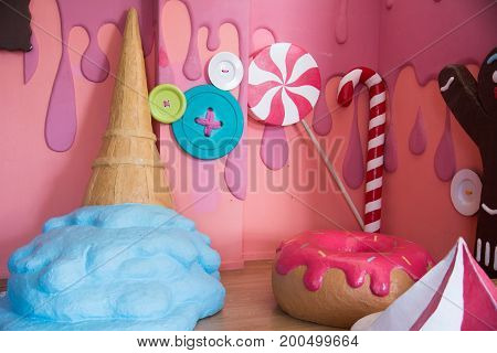 Confectionery Style, Colorful Fake Sweets